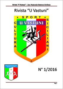 Rivista U Vastuni bastone siciliano numero 1 2016