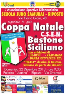 1a Coppa Natale CSEN Bastone Siciliano Manifesto