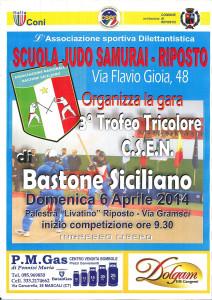 trofeo tricolore csen bastone siciliano manifesto